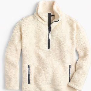 J. Crew Polartec half-zip fleece pullover in cream